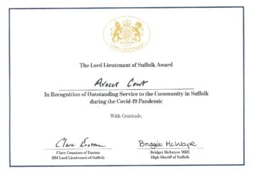 Ruth Garnham's Certificate of Merit
